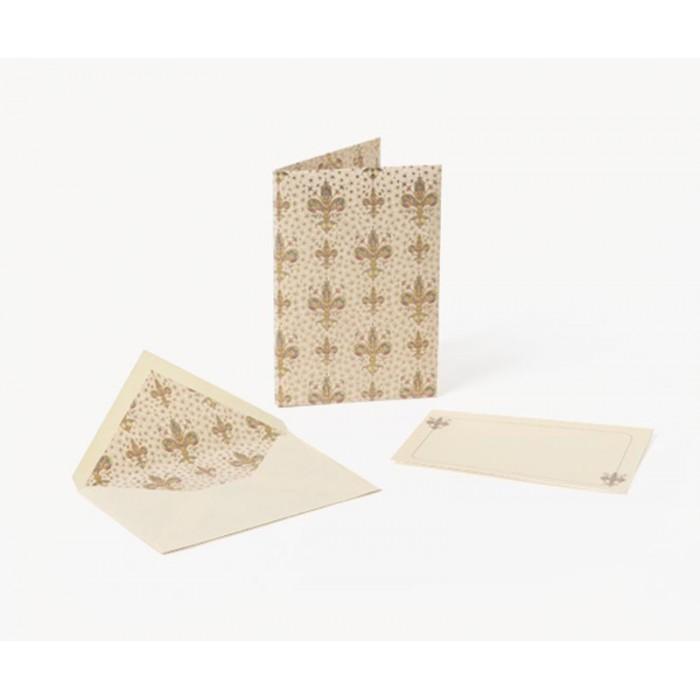 Set 10 plicuri si cartonase cu fir aur LILIUM, 10x15cm