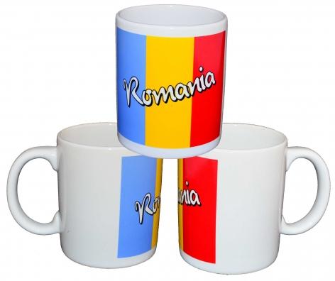 Cana foto cu Romania 11X10 cm