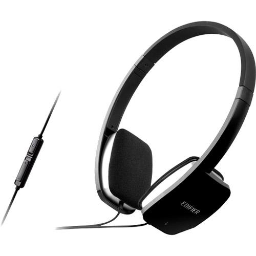 Casti EDIFIER Stereo, microfon, control volum pe fir, black