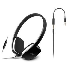 Casti EDIFIER Mobile, microfon integrat, control volum pe fir, black,