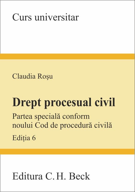 DREPT PROCESUAL CIVIL PS CONF NOULUI COD DE PROCEDURA CIVILA. ED 6
