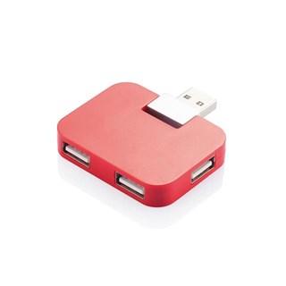 Hub USB portabil, rosu