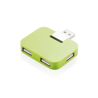 Hub USB portabil, verde