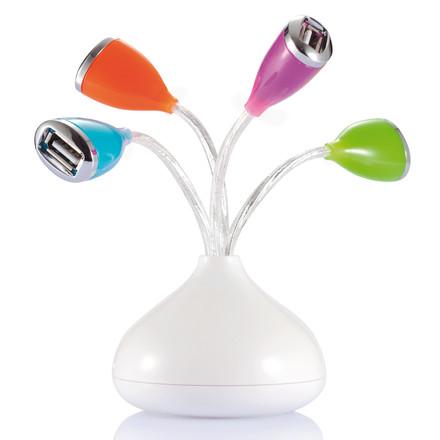 Port USB floare cu led