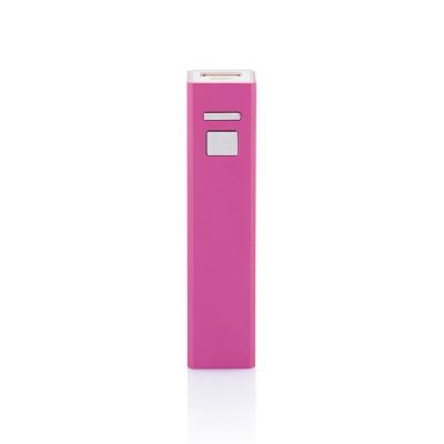 Baterie portabila 2200mAh dreptunghi, roz