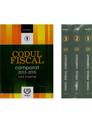CODUL FISCAL COMPARAT 2013-2015