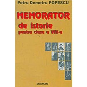 MEMORATOR DE ISTORIE PENTRU CLASA A VIII-A