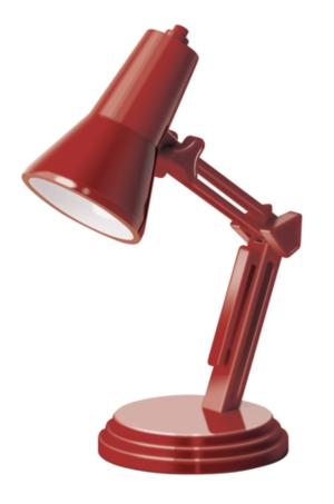 Lampa de carte rosie