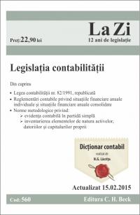 LEGISLATIA CONTABILITATII LA ZI COD 560 (ACT 15.02.2015)