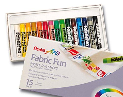 Creioane cer.Pentel FabricFunPastel,15b/s