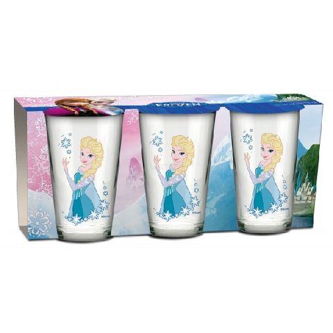 Pahare sticla,Frozen,3buc/set