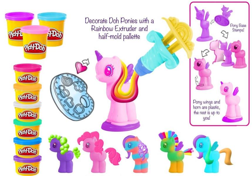 PlayDoh-Set creatie ,MLP,6cutii plastilina