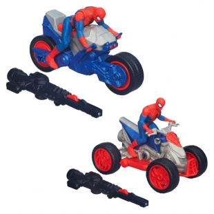 Spiderman-Vehicul lansator,figurina 9.5cm,Go Racers