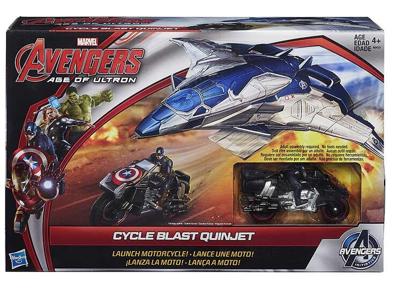 Avengers-Figurina pe motocicleta,cu lansator