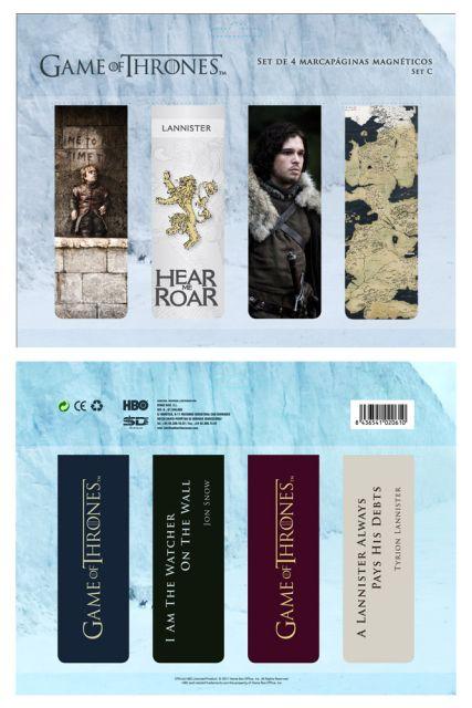 Game of Thrones Magnetic Bookmark Set C