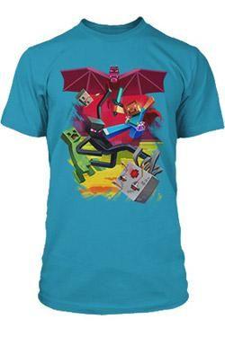 Minecraft Premium T-Shirt SamCube Battle Size S