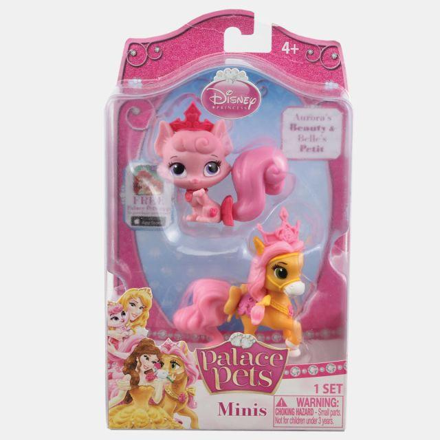 Figurina Disney,pisica aurorei si poneiul lui belle,3.8cm,set