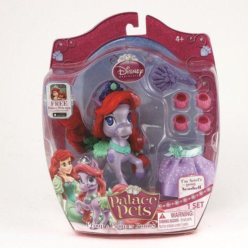 Figurina Disney,Seashell,poneiul printesei Ariel,accesorii