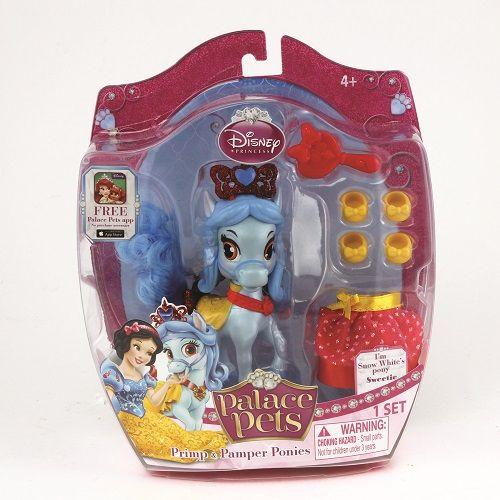 Figurina Disney,Sweetie,poneiul printesei Alba ca zapada,accesorii