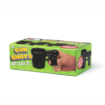 Shot glass set 3pcs Gun