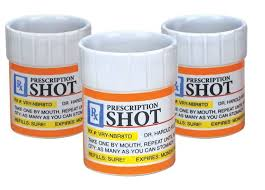 Shot glass set 3pcs Prescription