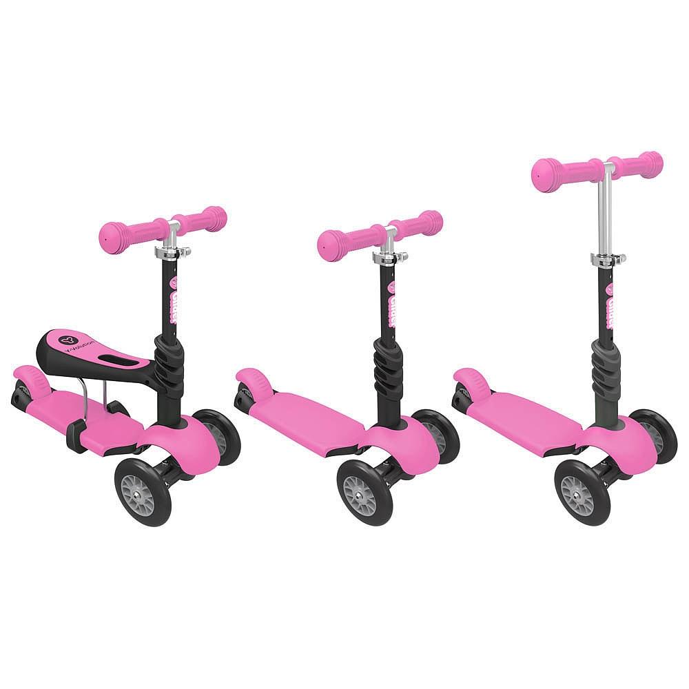 Trotineta Yvolution Glider,3in1,roz,2A-6A