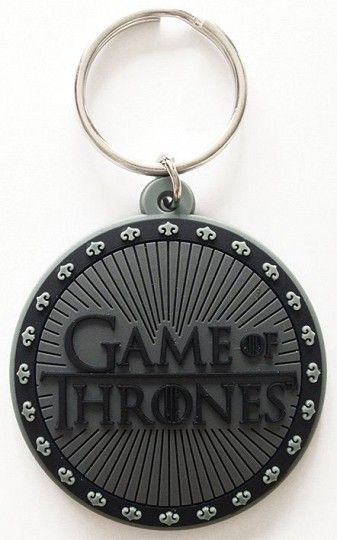Game of Thrones Rubber Keychain Logo 6 cm