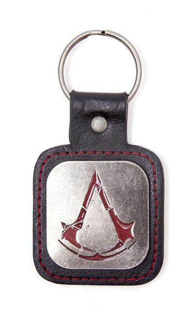 Assassin´s Creed Rogue Metal Key Ring Logo & PU Snap