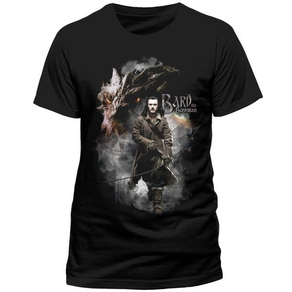 The Hobbit The Battle of the Five Armies T-Shirt Bard The Bowman Size L
