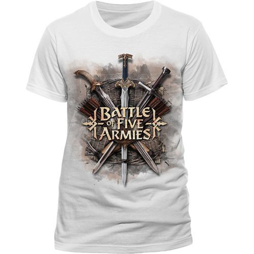 The Hobbit The Battle of the Five Armies T-Shirt Battle Of The Five Armies Size S