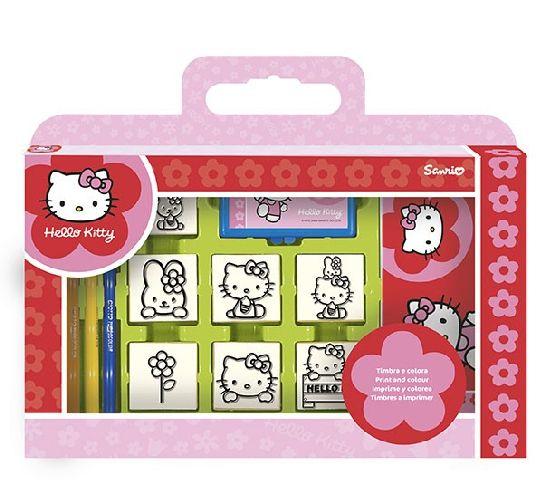 Trusa stampile,7b/set,Hello Kitty