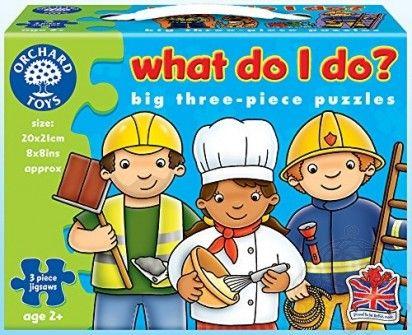 Puzzle meserii,3pcs,6buc/set,Orchard Toys