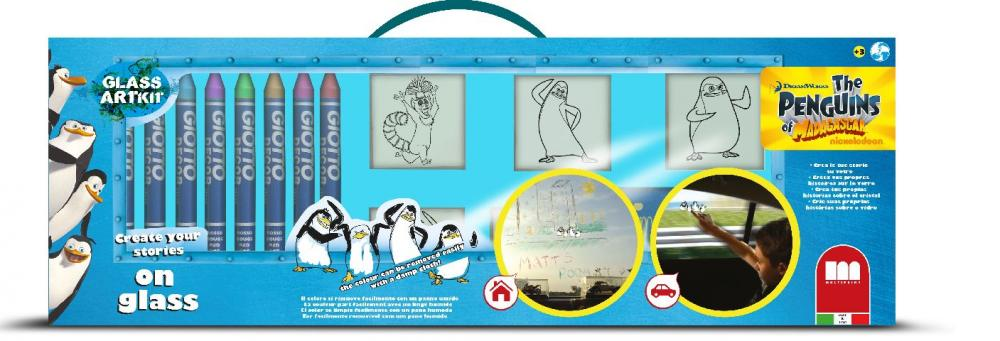 Trusa creativitate pe sticla,Pinguinii din Madagascar