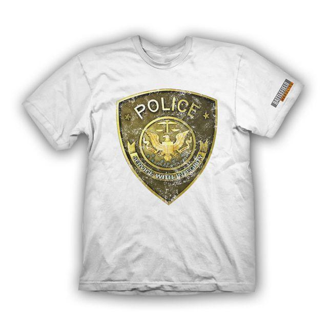 Battlefield Hardline T-Shirt Police white L