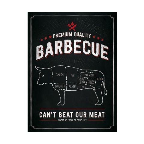 Placa 30x40 23199 Barbecue Bull
