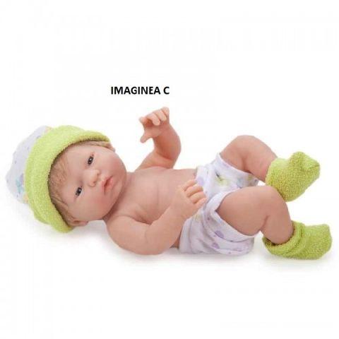Papusa bebe,hainute verzi,,24cmJC Toys