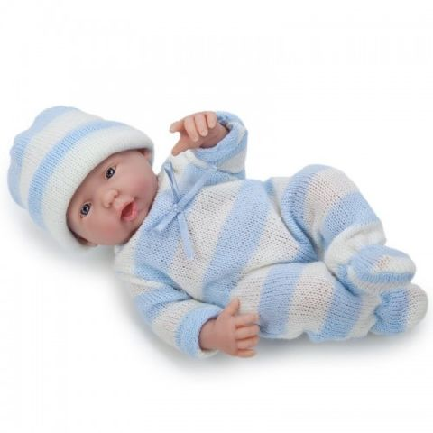 Papusa bebe,baiat,vesel,24 cm,JC Toys