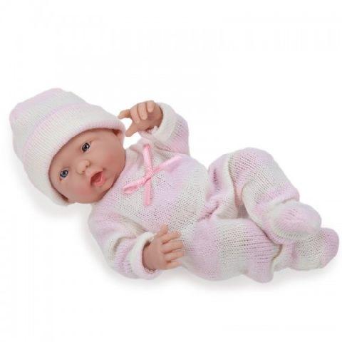 Papusa bebe,fata,vesela,24 cm,JC Toys
