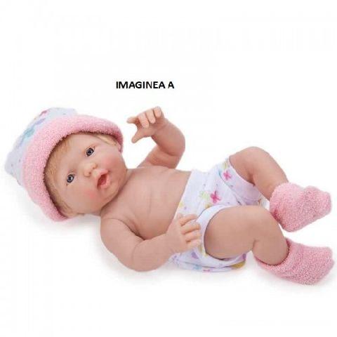 Papusa bebe,hainute roz,24cm,JC Toys