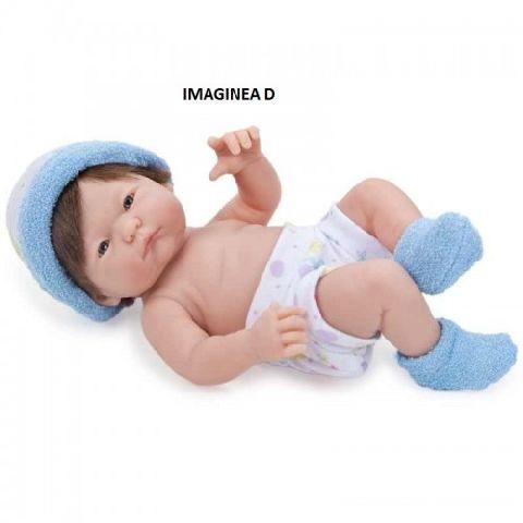 Papusa bebe,hainute blue,24cm,JC Toys