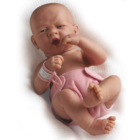 Papusa nou-nascut,fata,ochi deschisi,36cm,JC Toys