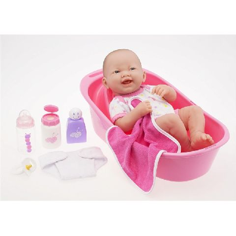 Papusa bebe,cu accesorii baie,36cm,JC Toys