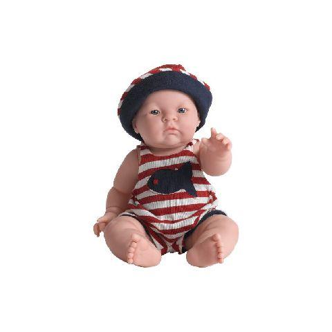 Papusa bebe,Lily,costum vara,38cm,JC Toys