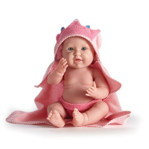 Papusa bebe,in prosop roz,43cm,JC Toys