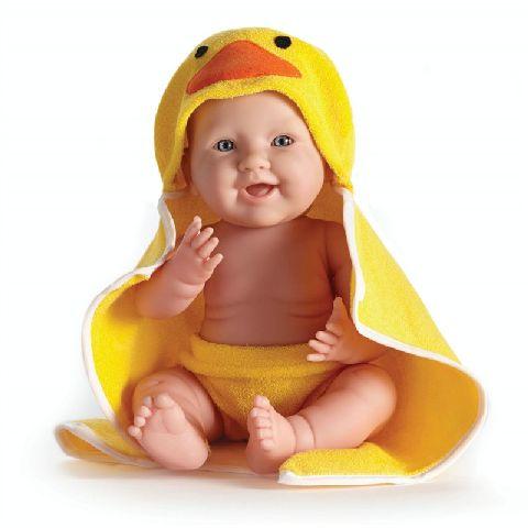 Papusa bebe,in prosop galben,43cm,JC Toys