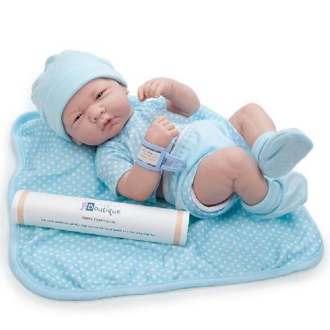 Papusa bebe,baiat,cu accesorii,36cm,JC Toys