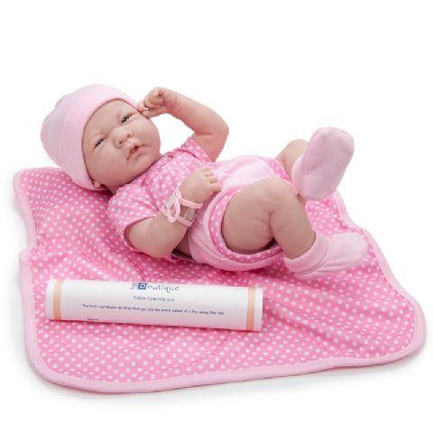 Papusa bebe,fata,cu accesorii,36cm,JC Toys