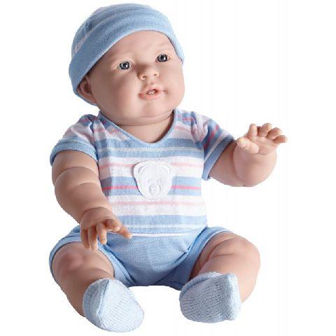 Papusa bebe,Lucas,costum blue dungi,46cm,JC Toys