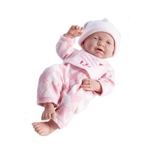 Papusa bebe,fata,costum inimioara,roz,43cm,JC Toys