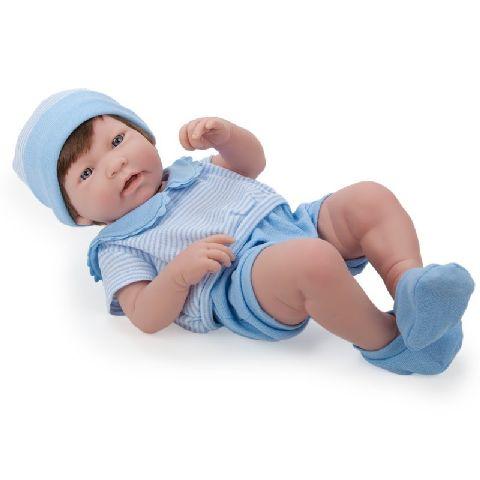 Papusa bebe,baiat,saten,43cm,JC Toys